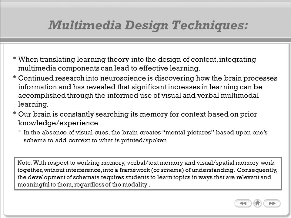 Multimedia Design Techniques: