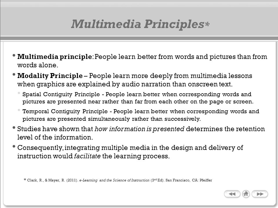 Multimedia Principles*