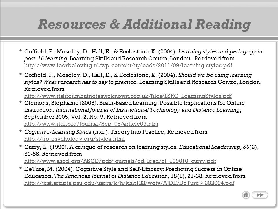 Resources & Additional Reading