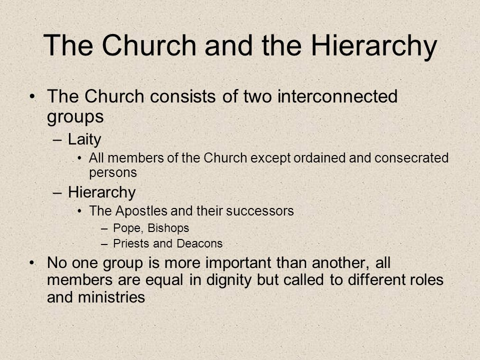 The Church and the Hierarchy