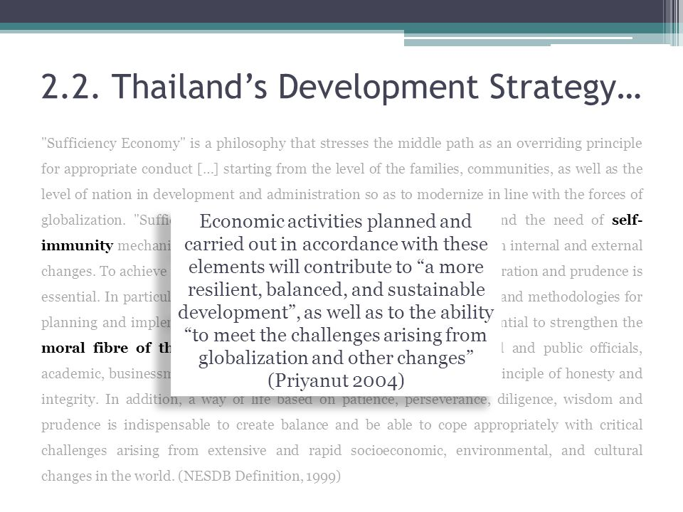2.2. Thailand's Development Strategy…