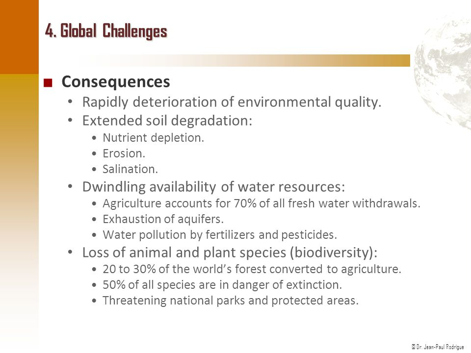 4. Global Challenges Consequences