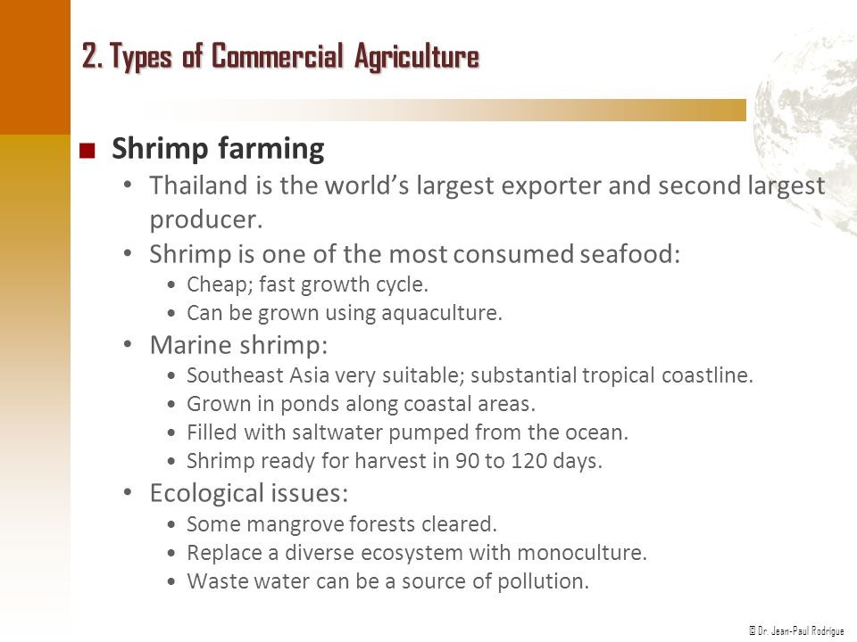 2. Types of Commercial Agriculture