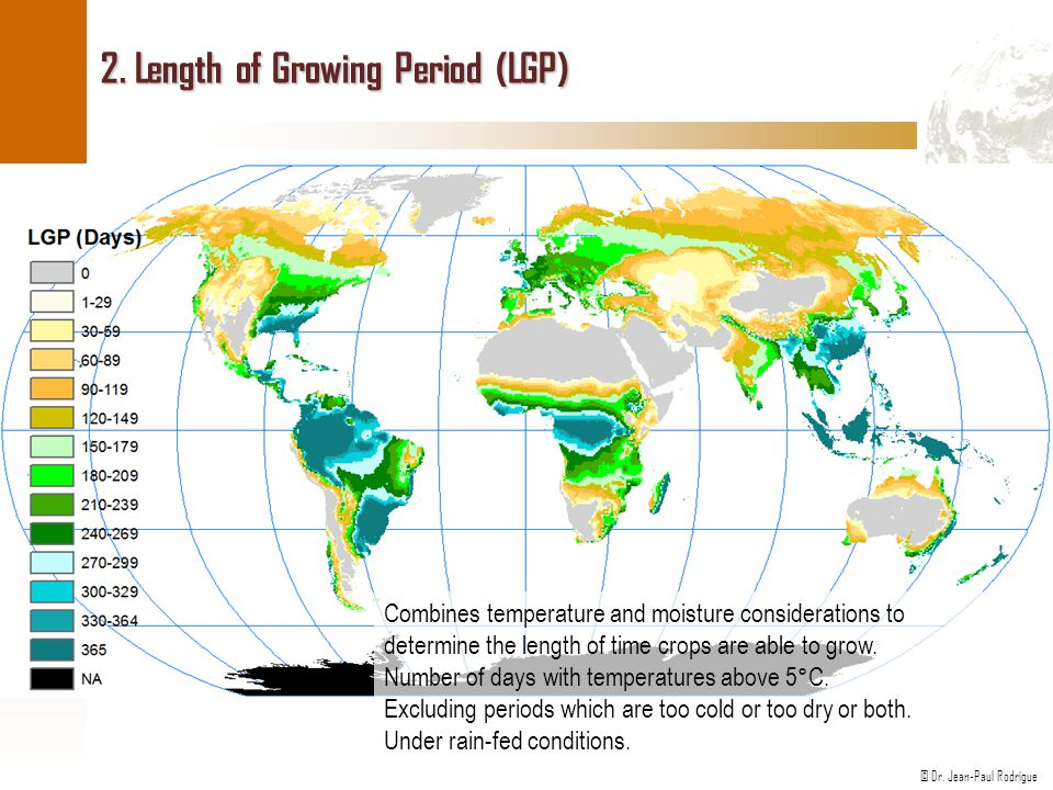 2. Length of Growing Period (LGP)