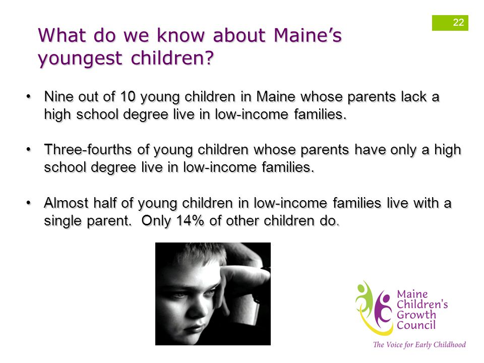 What do we know about Maine's youngest children