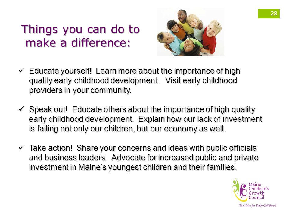 Things you can do to make a difference: