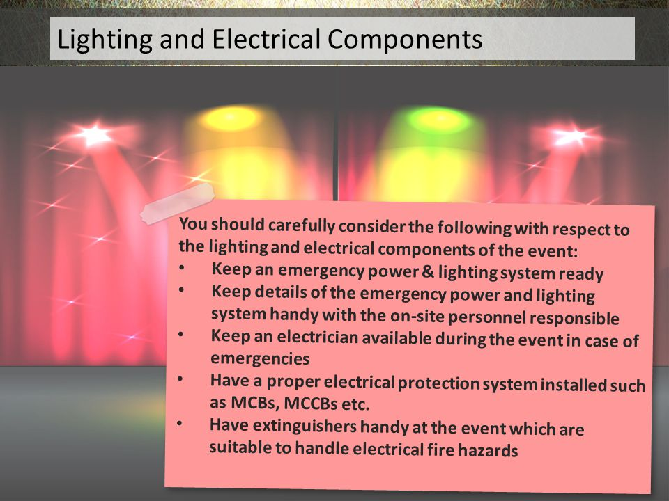 Lighting and Electrical Components