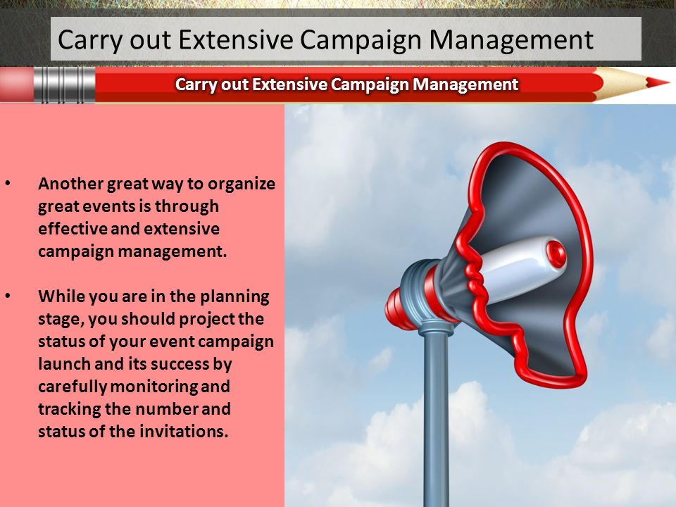 Carry out Extensive Campaign Management