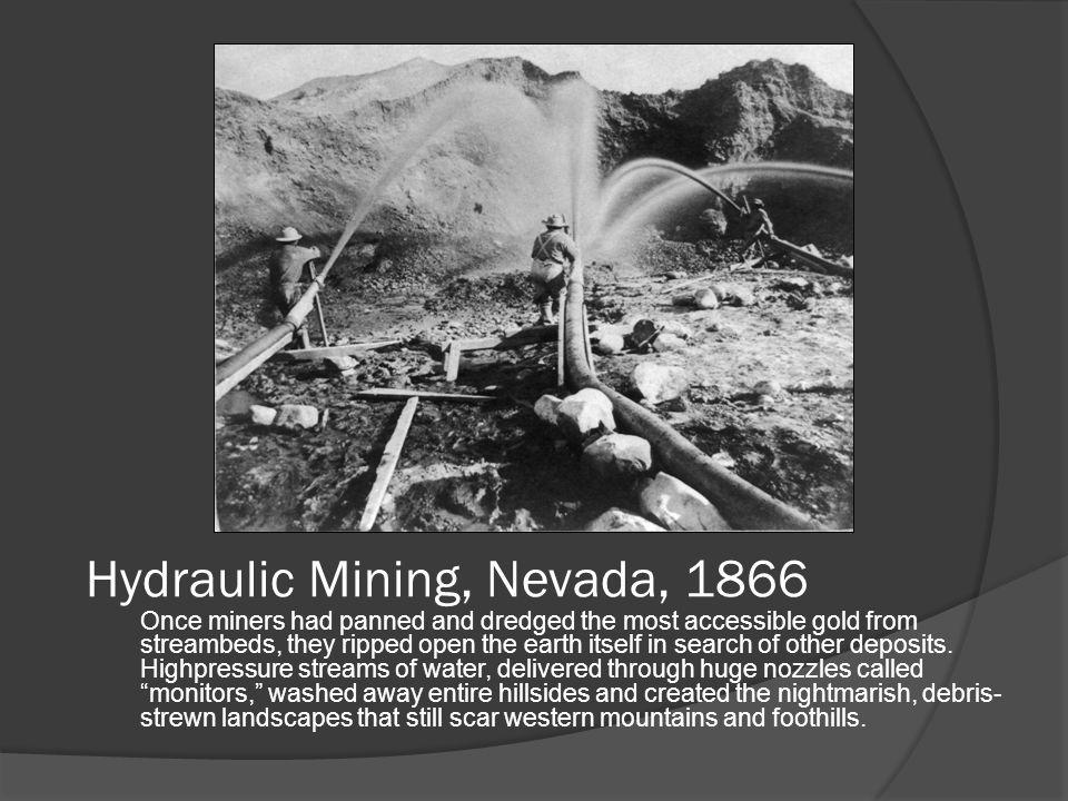 Hydraulic Mining, Nevada, 1866