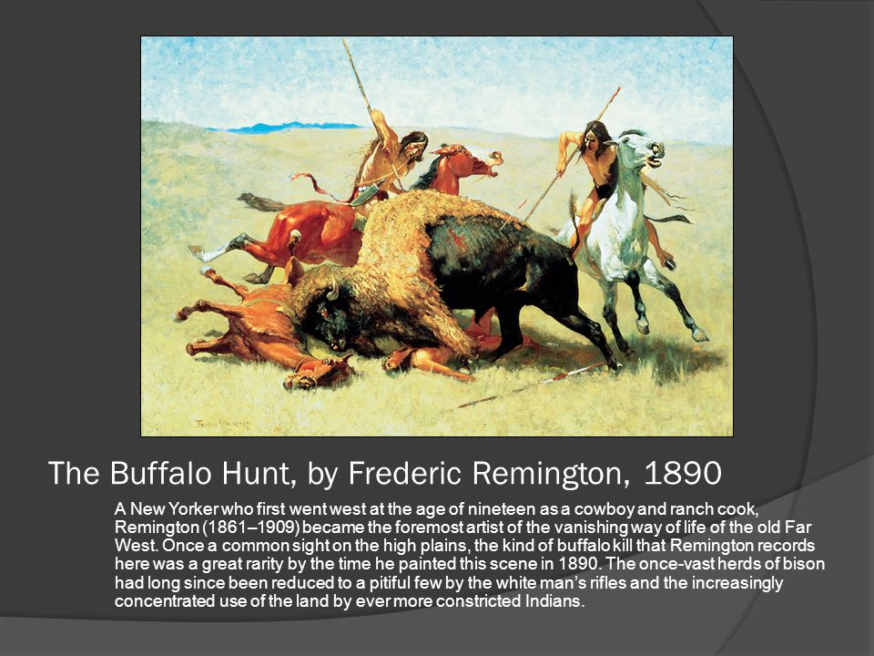 The Buffalo Hunt, by Frederic Remington, 1890