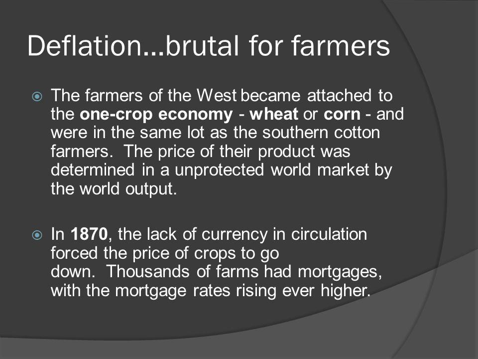 Deflation…brutal for farmers
