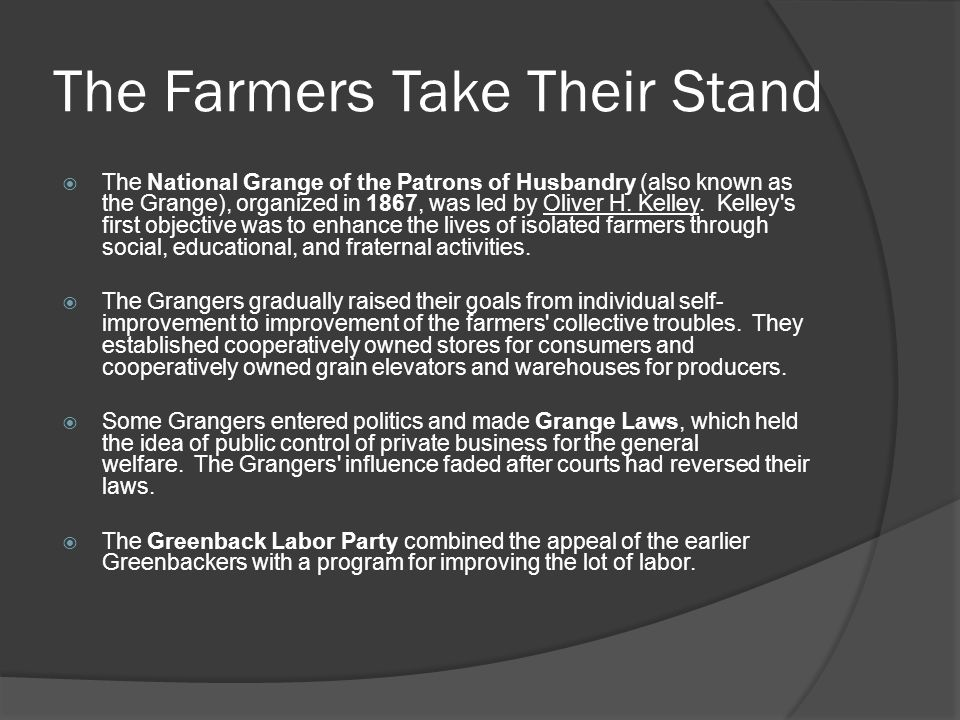 The Farmers Take Their Stand