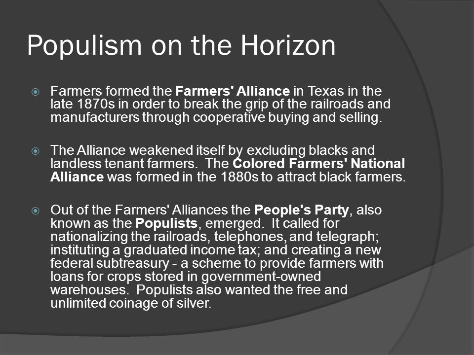 Populism on the Horizon