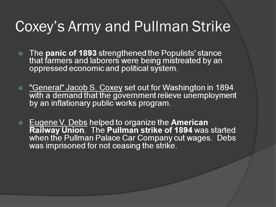 Coxey's Army and Pullman Strike