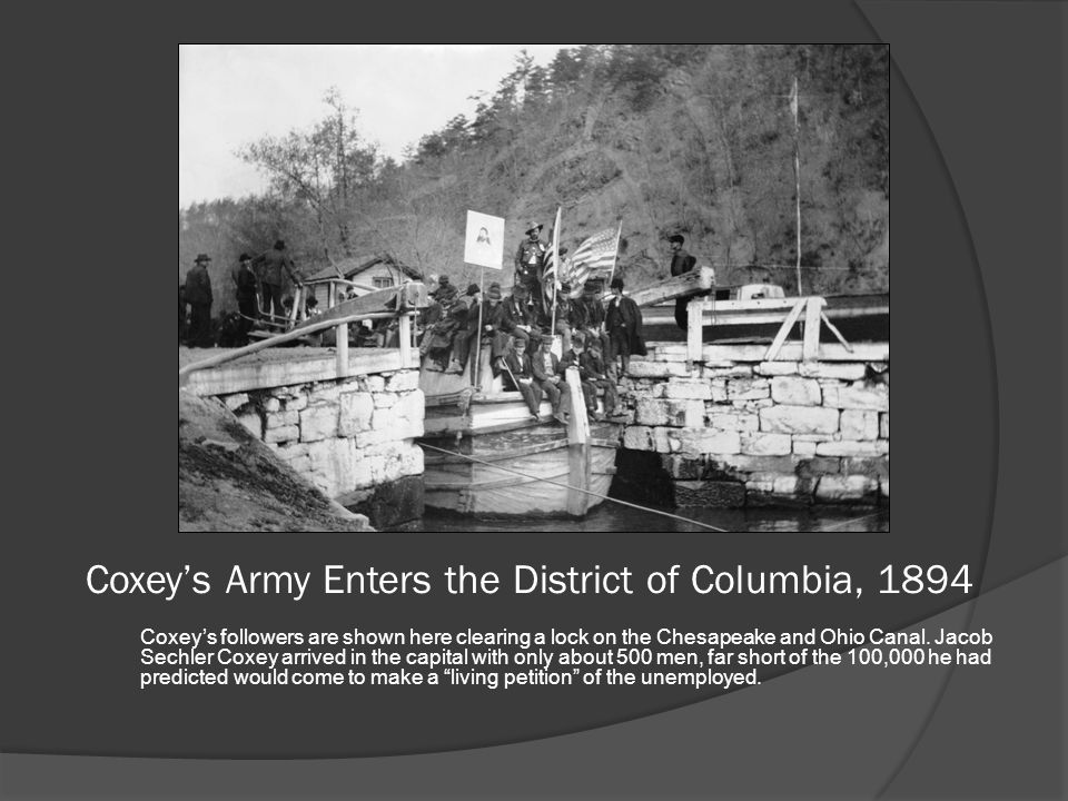 Coxey's Army Enters the District of Columbia, 1894