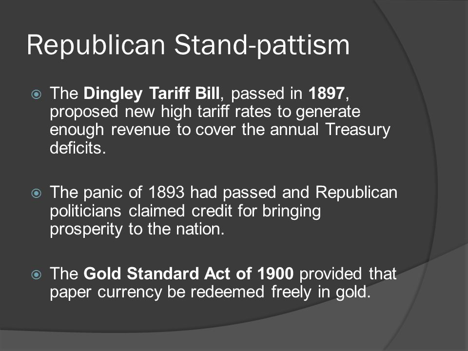 Republican Stand-pattism