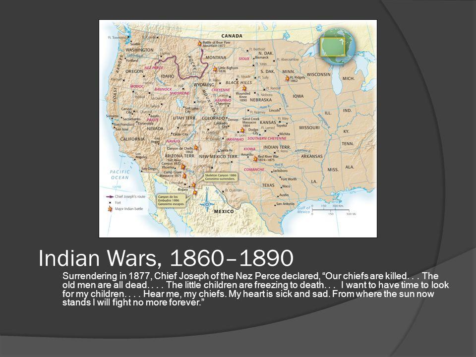 Indian Wars, 1860–1890