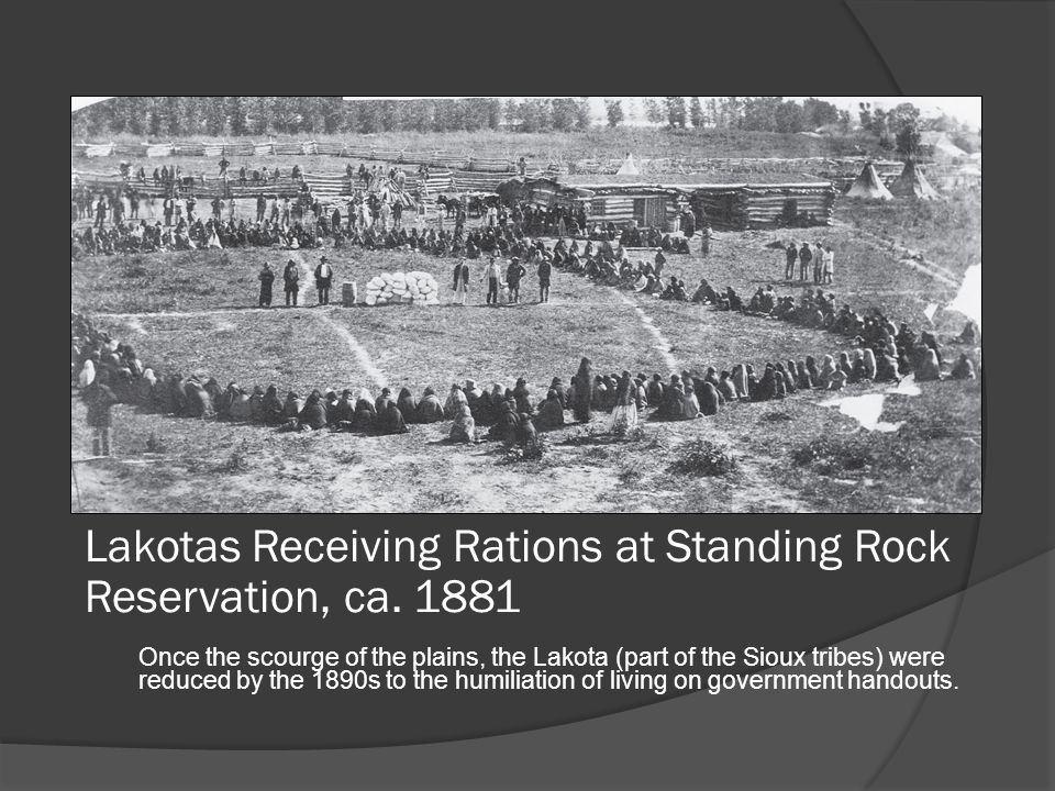 Lakotas Receiving Rations at Standing Rock Reservation, ca. 1881