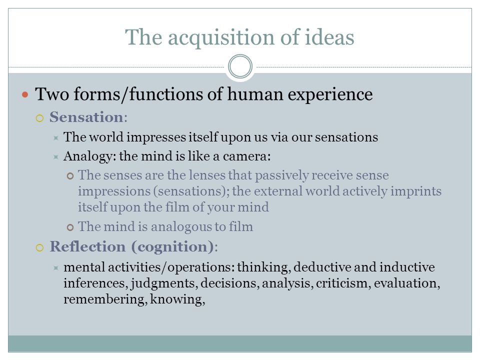 The acquisition of ideas