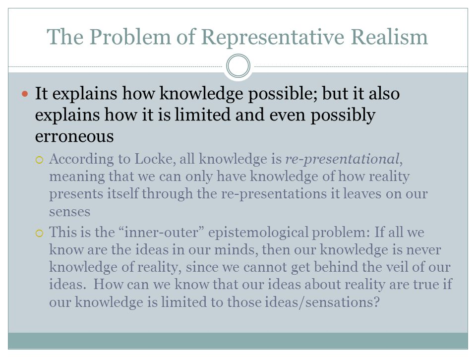 The Problem of Representative Realism