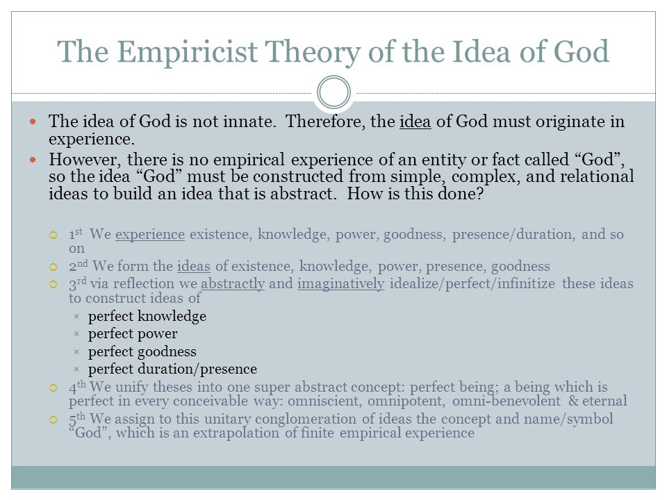 The Empiricist Theory of the Idea of God