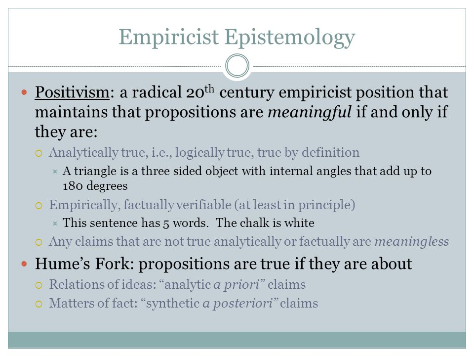 Empiricist Epistemology