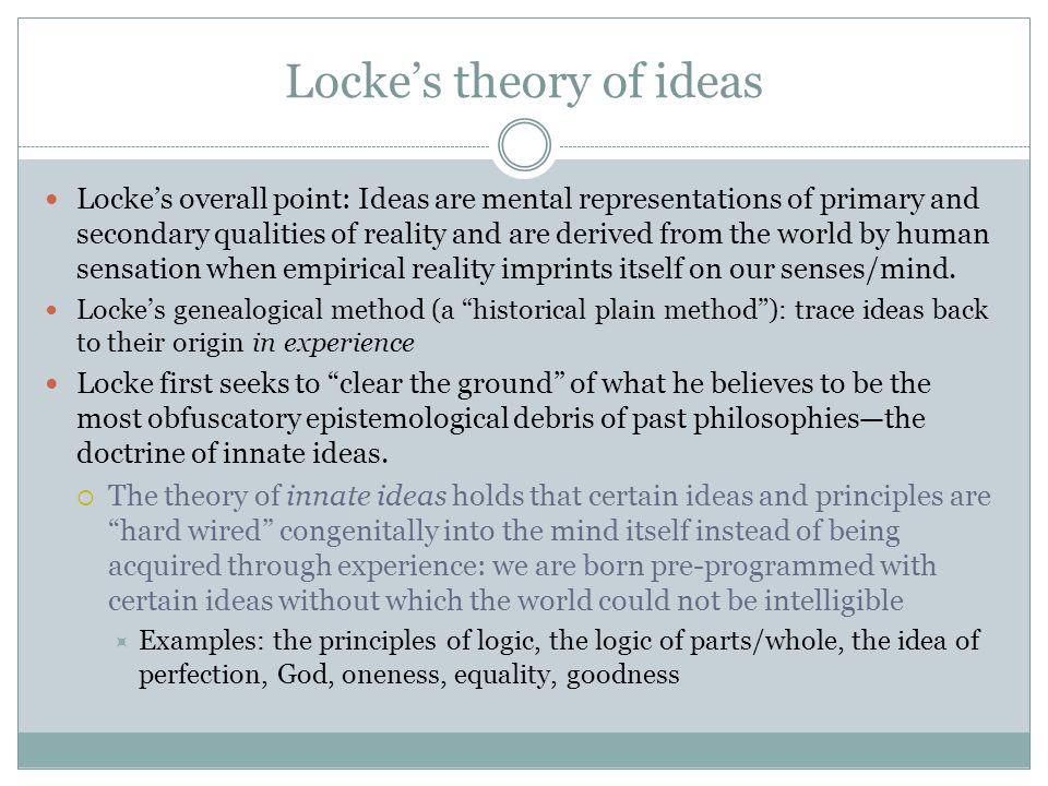 Locke's theory of ideas