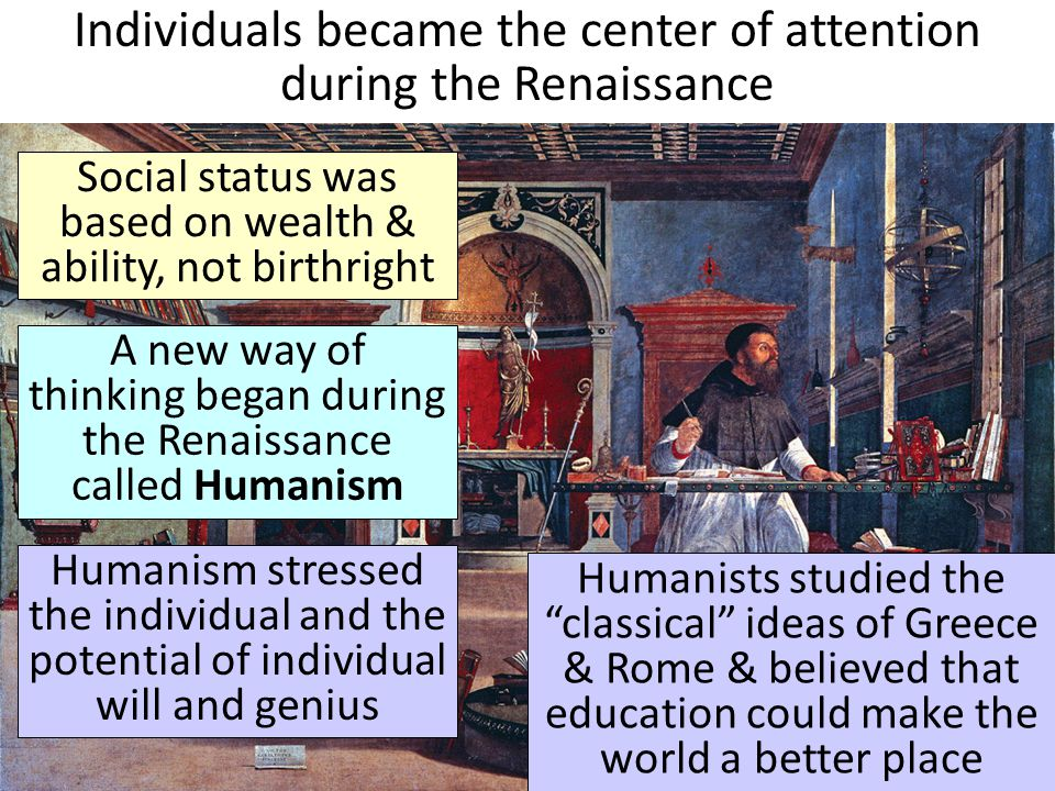 societys conversion to humanism during the renaissance period