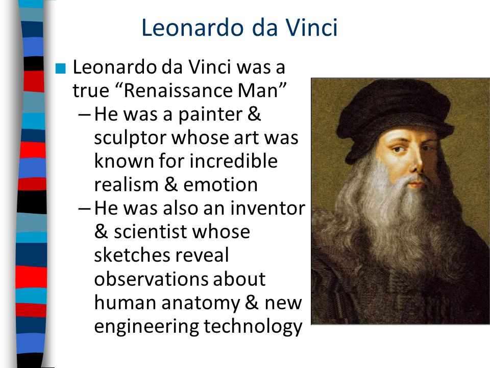 leonardo da vinci essay conclusion Free essays from bartleby | the rocks) these two altarpieces are being showcased in particular in this exhibition because they share a location in the same.