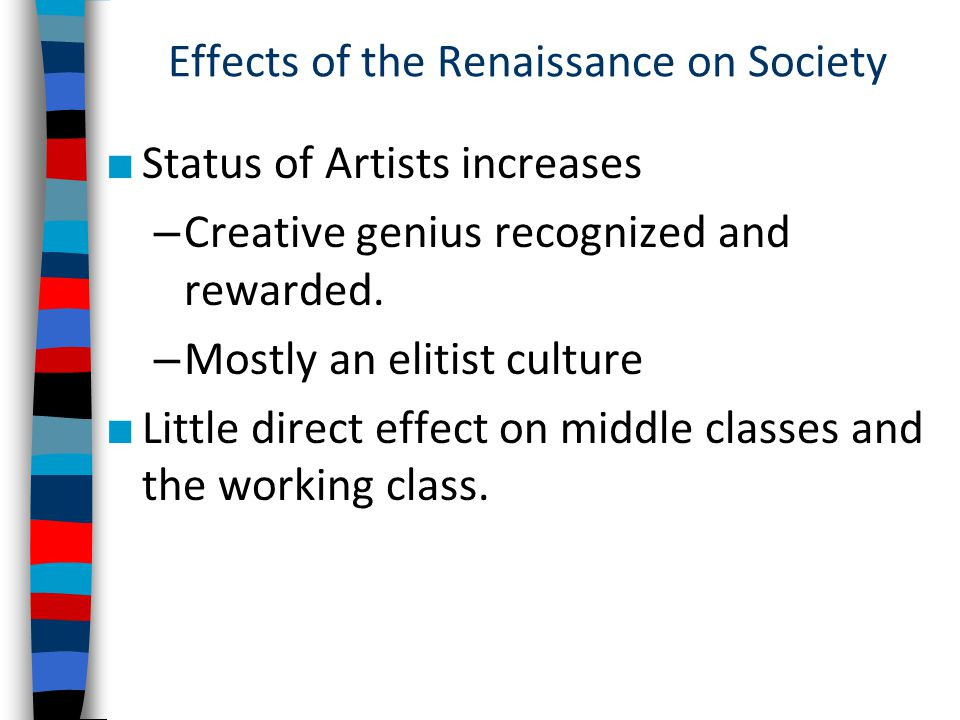 Effects of the Renaissance on Society