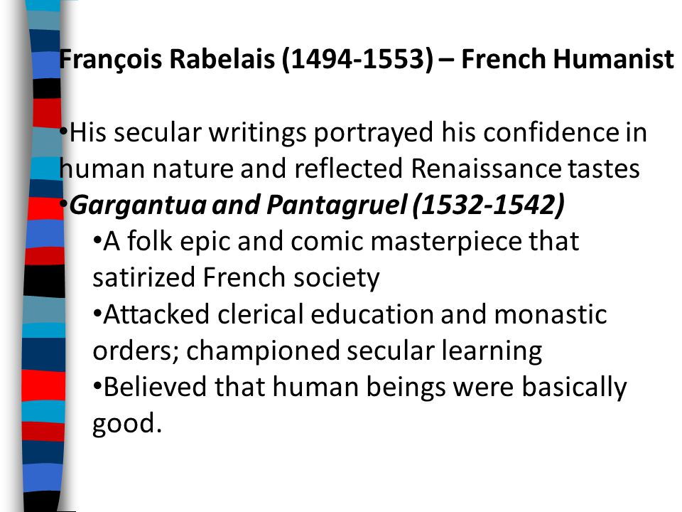 François Rabelais (1494-1553) – French Humanist
