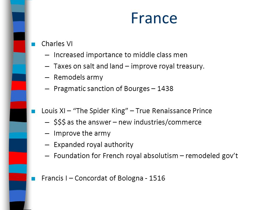France Charles VI Increased importance to middle class men