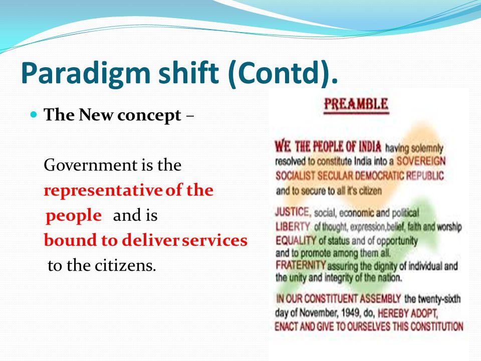 Paradigm shift (Contd).
