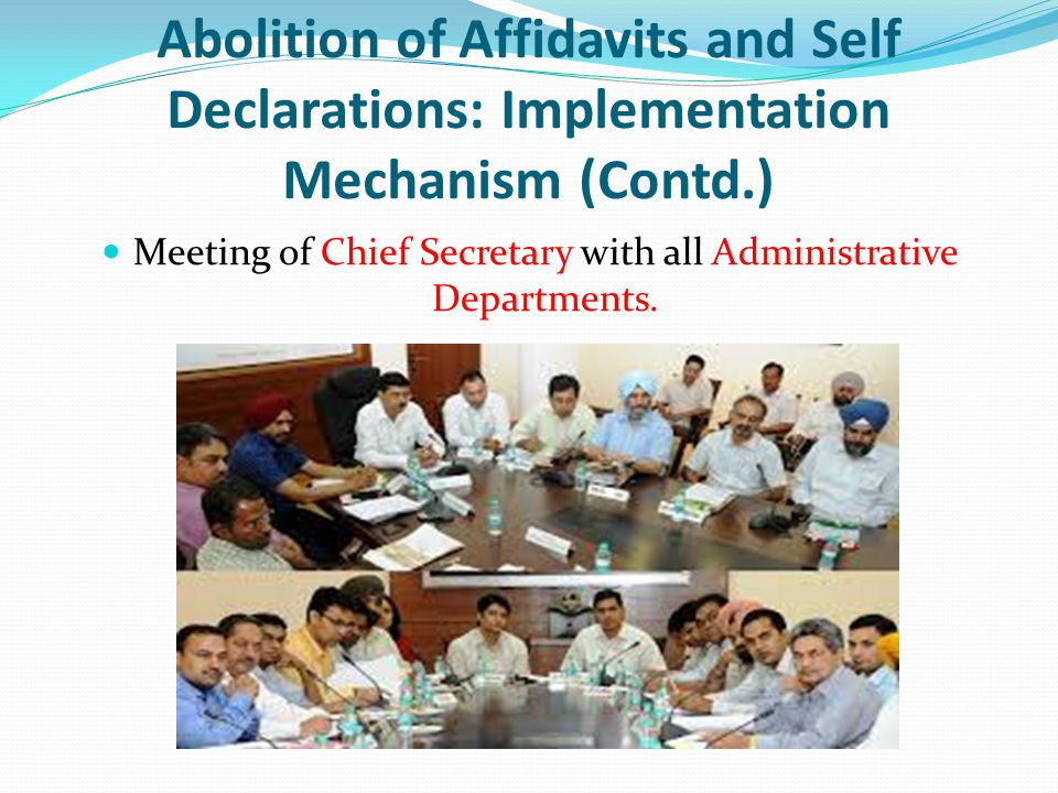 Meeting of Chief Secretary with all Administrative Departments.