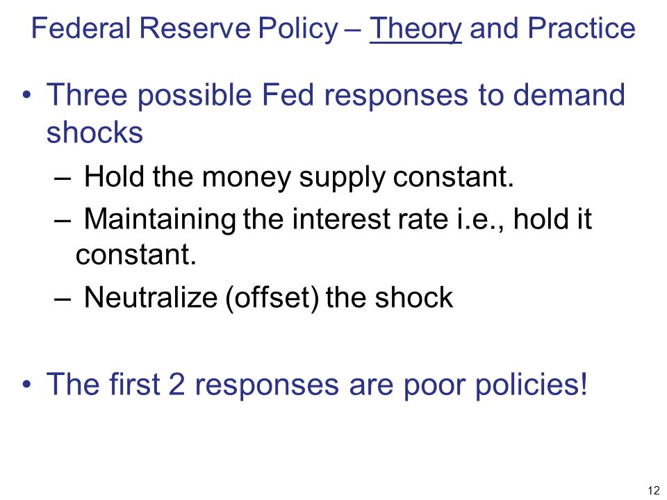 Federal Reserve Policy – Theory and Practice