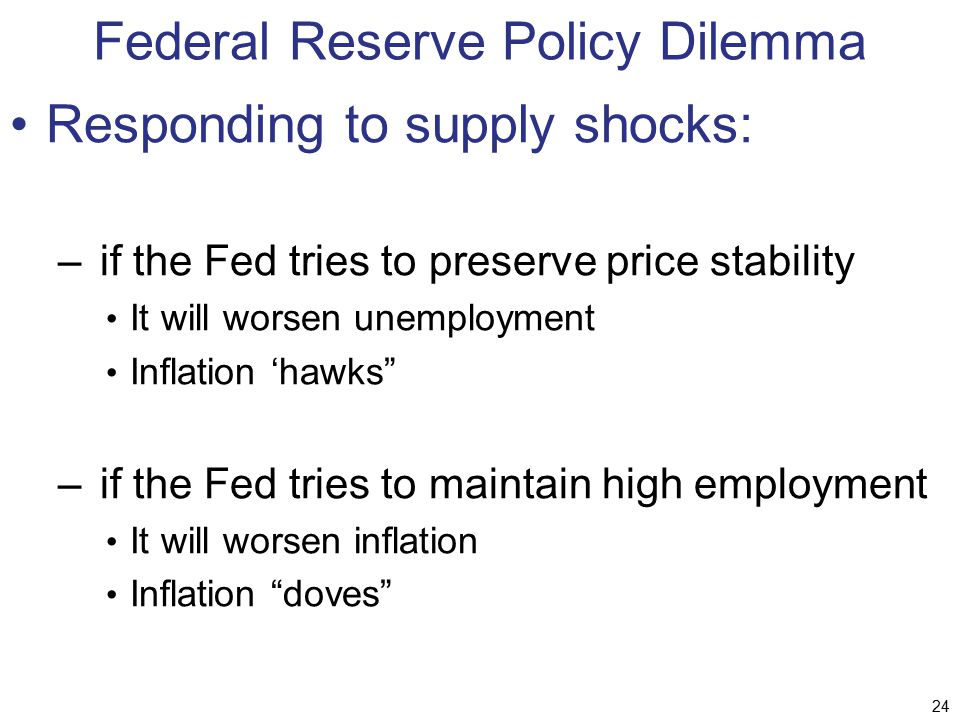 Federal Reserve Policy Dilemma