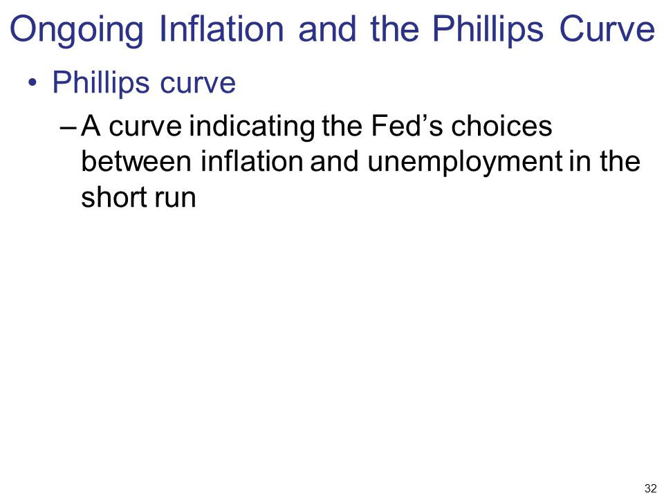 Ongoing Inflation and the Phillips Curve