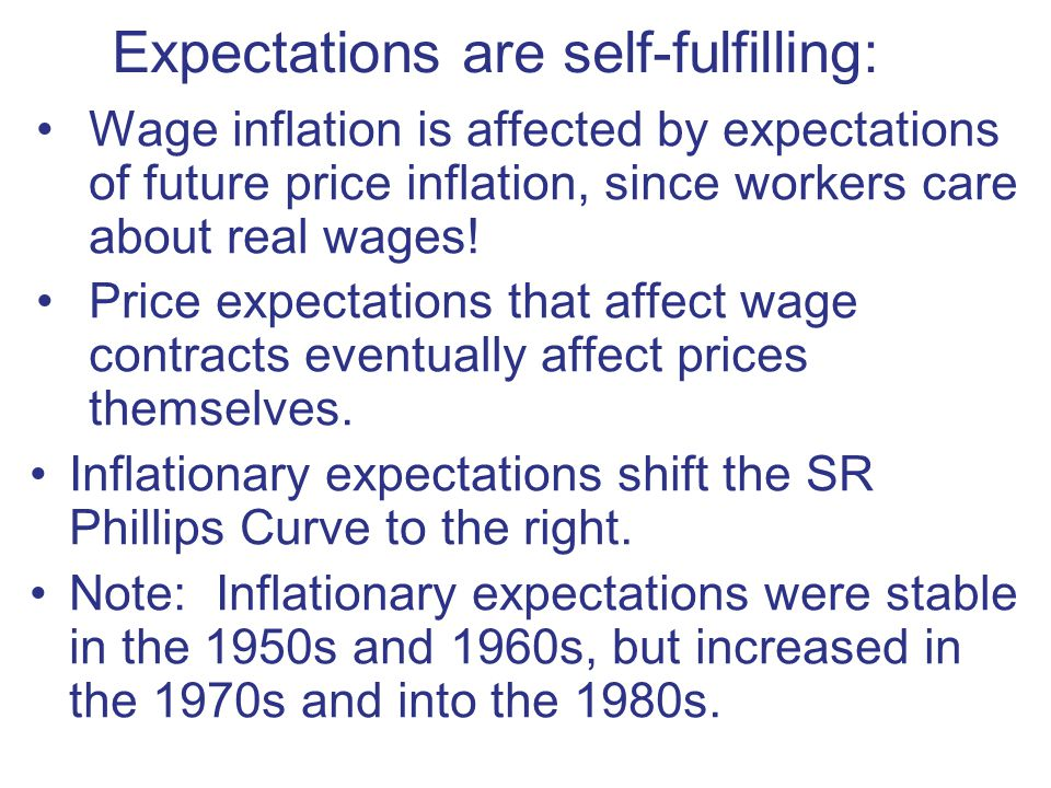 Expectations are self-fulfilling: