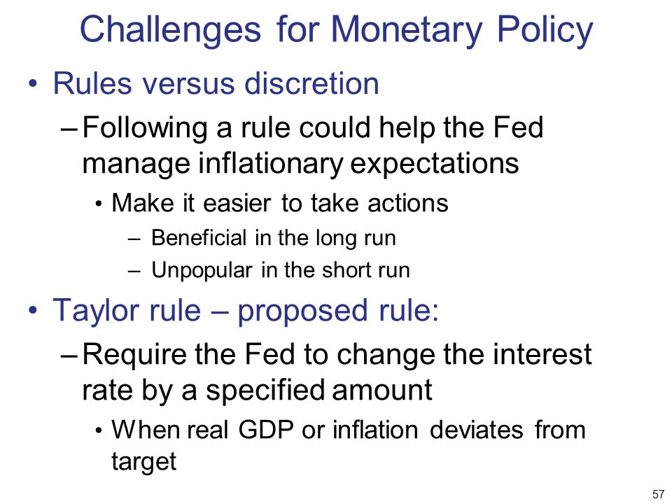 Challenges for Monetary Policy