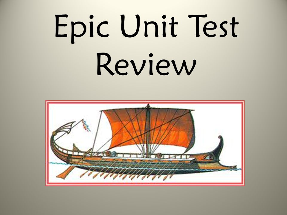 Epic Unit Test Review
