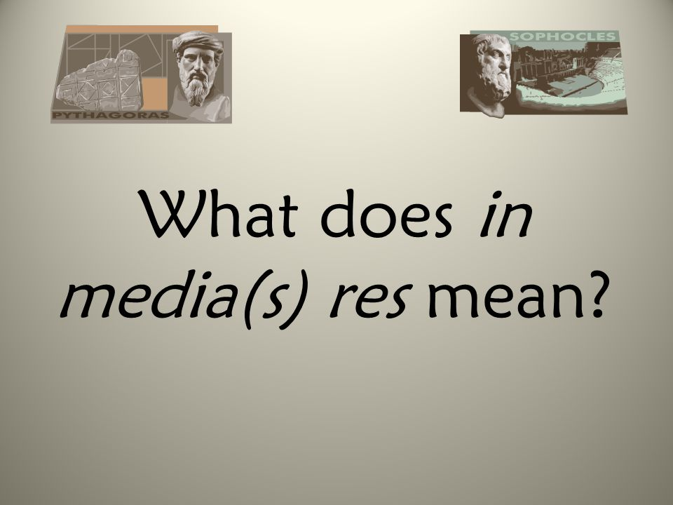 What does in media(s) res mean