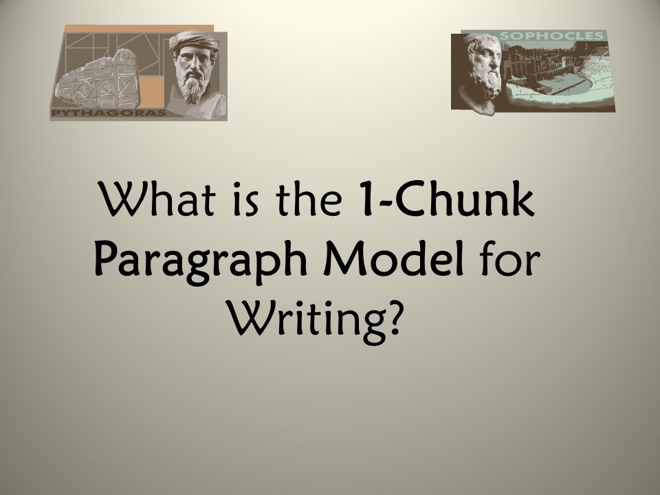 What is the 1-Chunk Paragraph Model for Writing