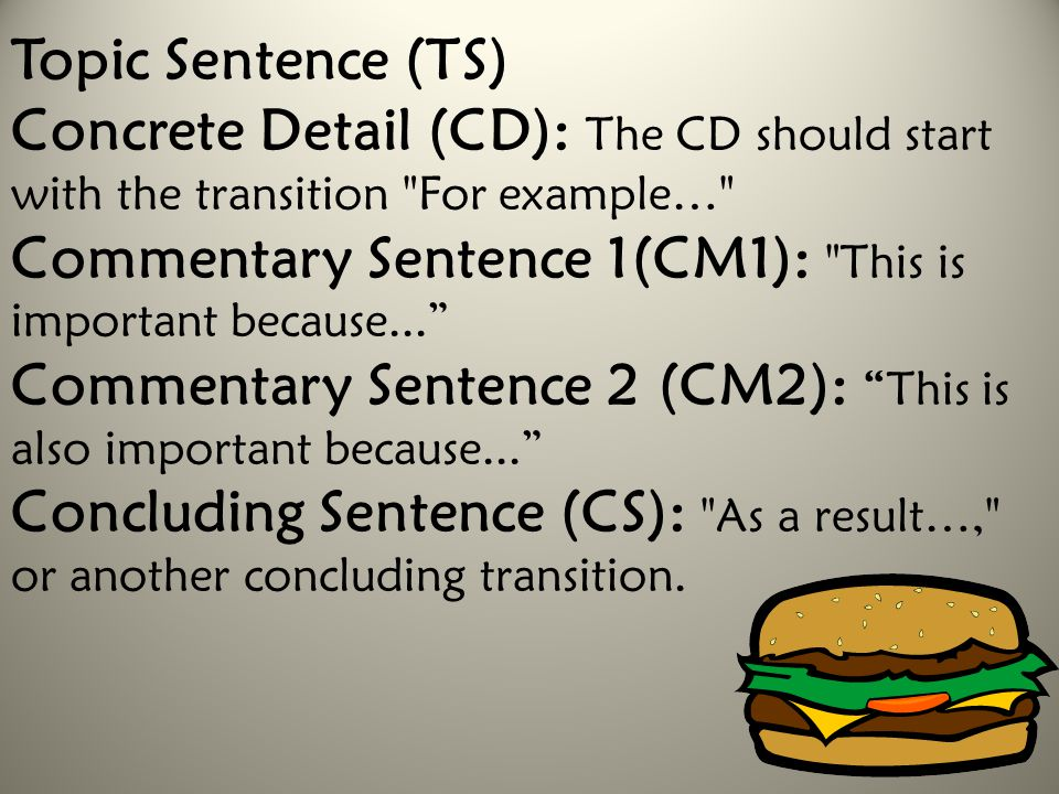 Topic Sentence (TS)