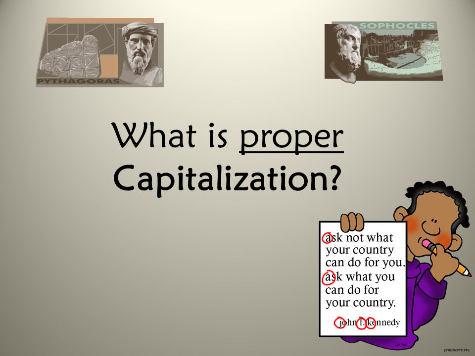 What is proper Capitalization