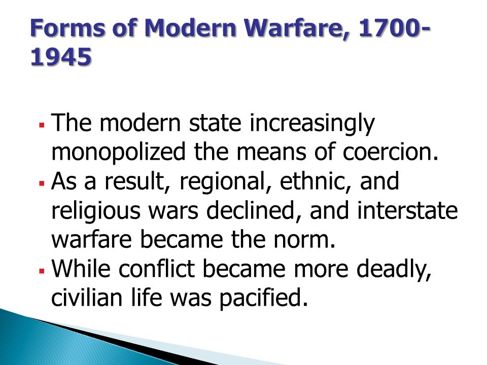 Forms of Modern Warfare, 1700-1945