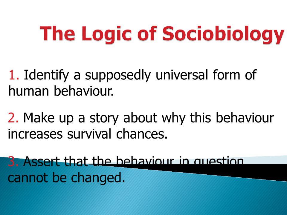 The Logic of Sociobiology
