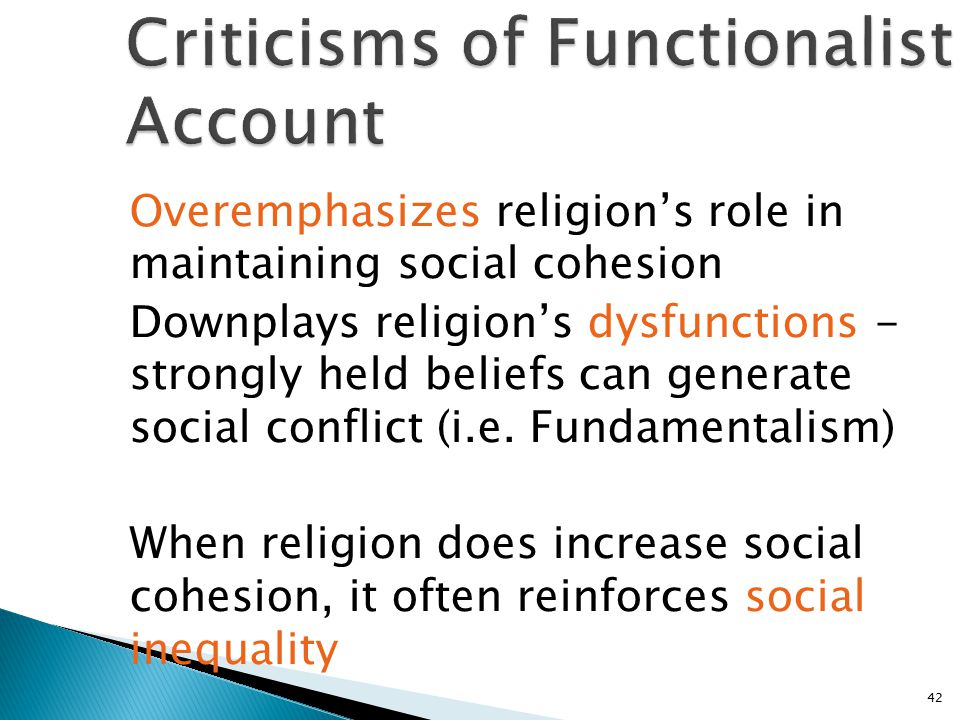 Criticisms of Functionalist Account