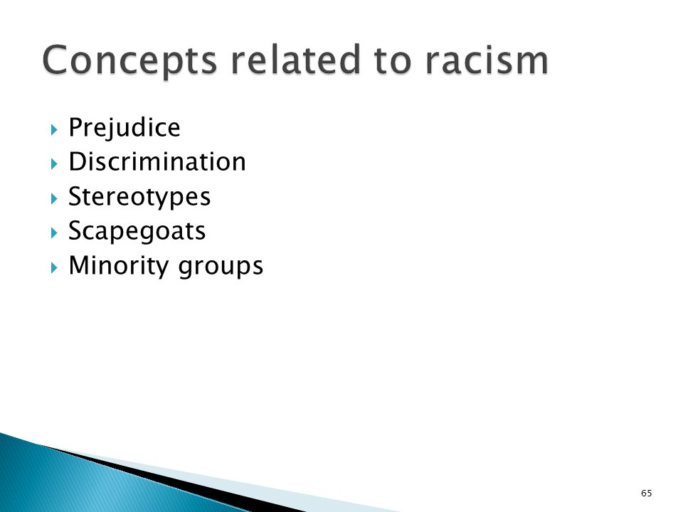 Concepts related to racism