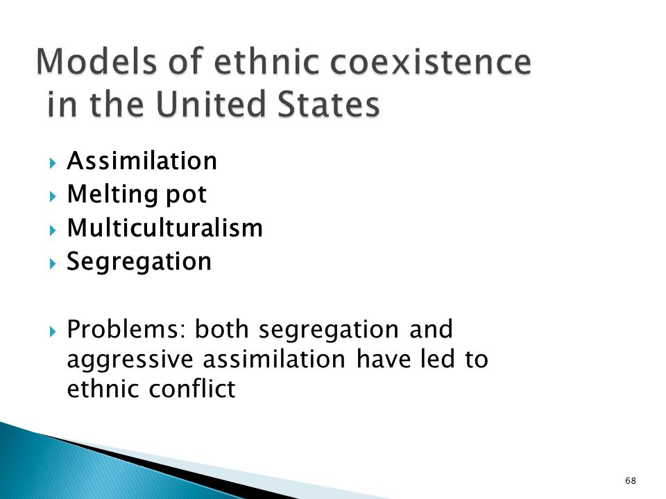 Models of ethnic coexistence in the United States