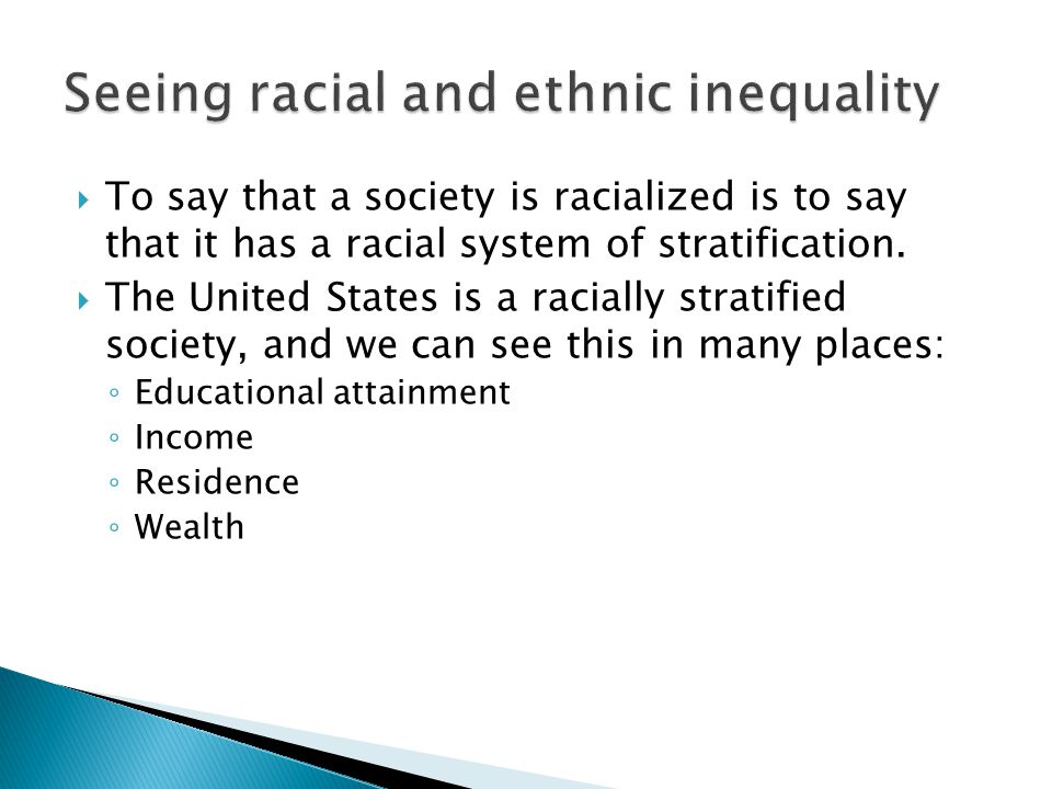 Seeing racial and ethnic inequality